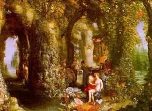 Ulisse e Calipso nell'isola di Ogigia