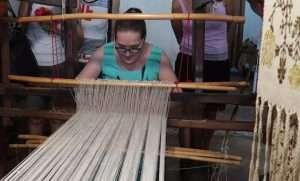 Chiara Vigo sul telaio