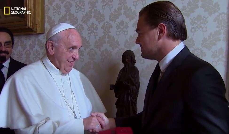 Di Caprio e Papa Francesco