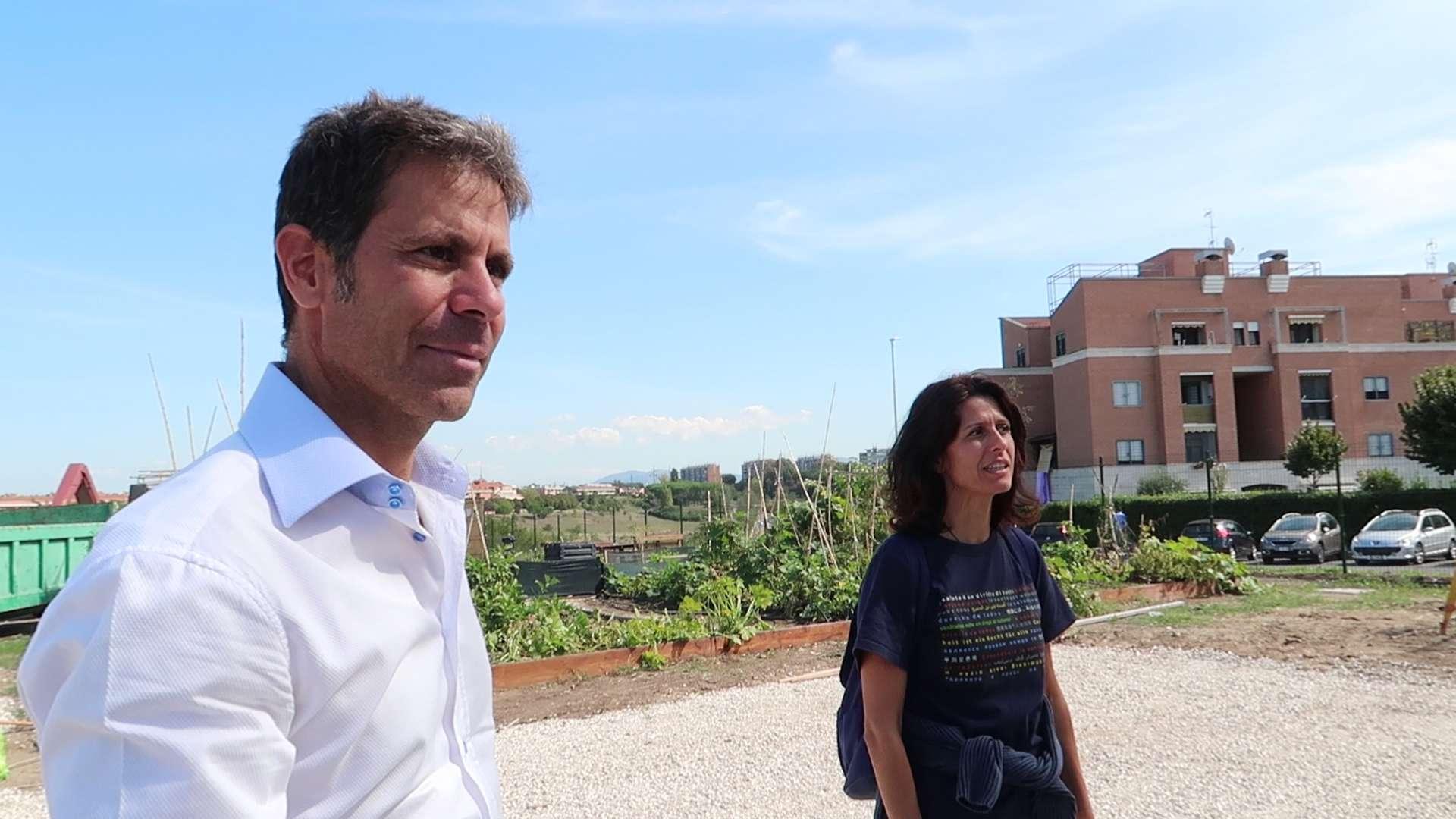 Insieme a Erik Cicione, presidente Consorzio Casal Brunori II