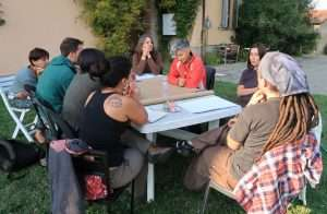 Momento di lavoro di un cerchio durante la plenaria di Ozzano