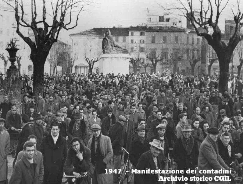 Manifestazione di contadini