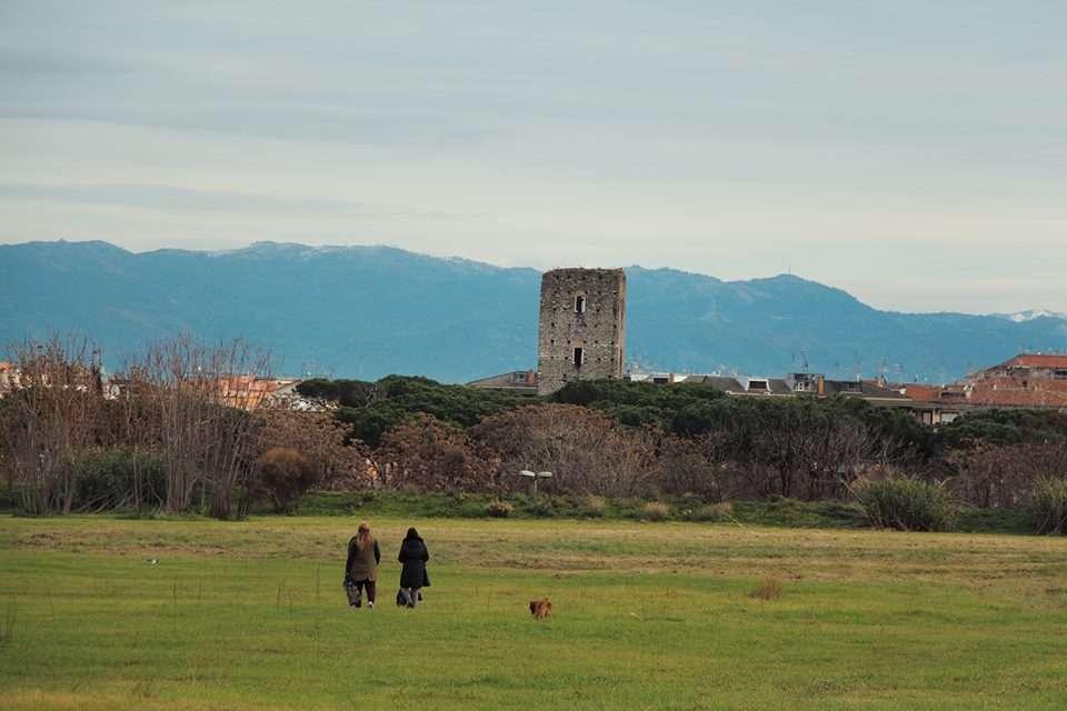 """parco di Centocelle, al centro la """"Torraccia"""""""