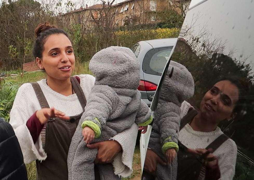 Michelle con il figlio più piccolo Elijah