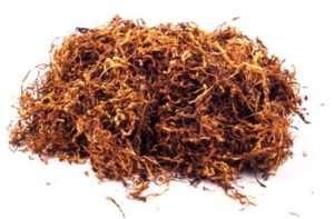Tabacco pronto per essere fumato