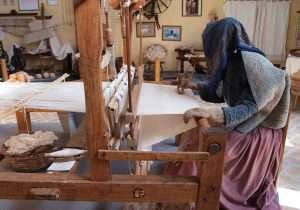 Telaio per la tessitura della canapa