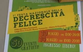 Locandina festa Movimento Decrescita Felice