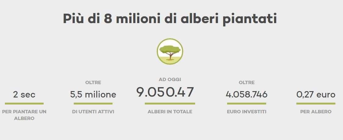 I numeri di Ecosia