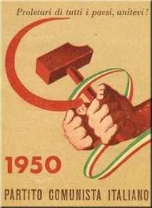 La falce, insieme al martello, simbolo del partito comunista italiano