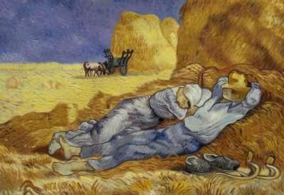 Dettaglio Riposo dal lavoro (dopo Millet) - Vincent van Gogh