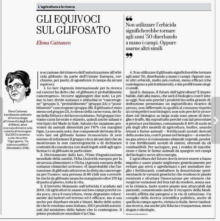 Articolo apparso sul quotidiano La Repubblica