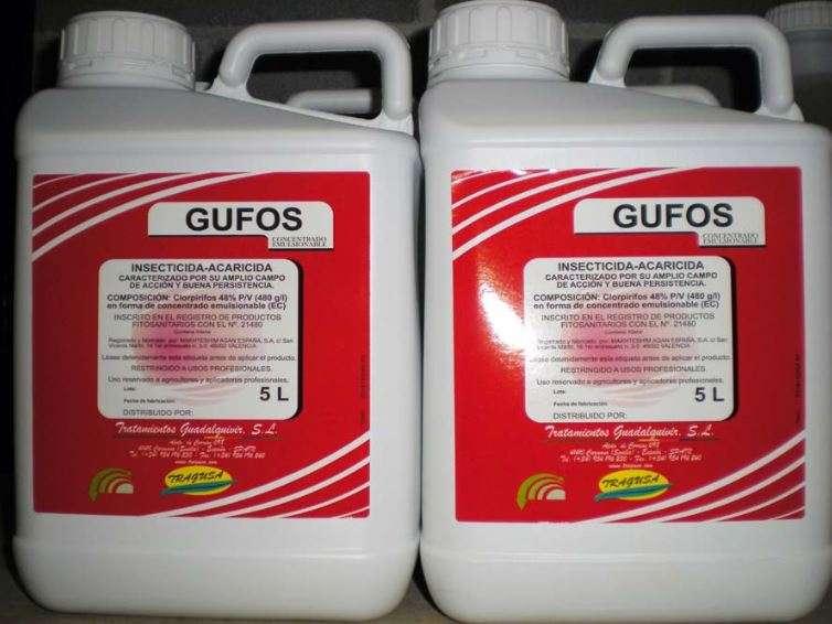 Una delle tante confezioni in cui viene venduto nel mondo il clorpirifos